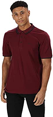 Regatta Talcott II Coolweave Cotton Pique 3-Button Up Neck Polo ...
