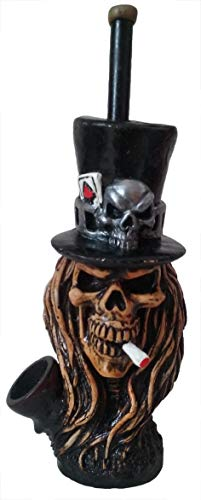 GNR Skull Smoking Pipe - Handmade Tobacco Pipe - Hand Pipe - Smoking Bowl - Skull Figurine - Rock & Roll Fans - Collectible Item