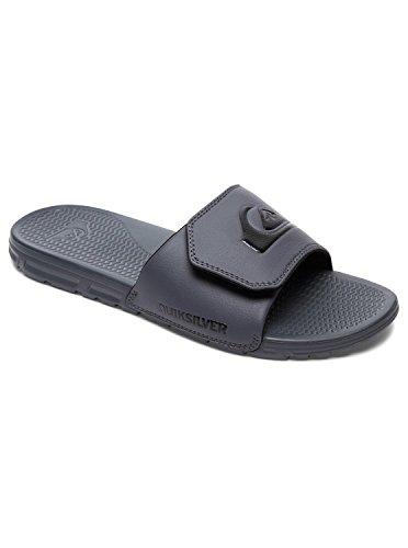 Quiksilver Men's Shoreline Adjust Flip-Flop Grey/Black, 10 M