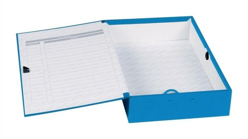 Concord Classic Box File Paper-lock Finger-pull and Catch 75mm Spine Foolscap Blue Ref C1278 [Pack of 5]