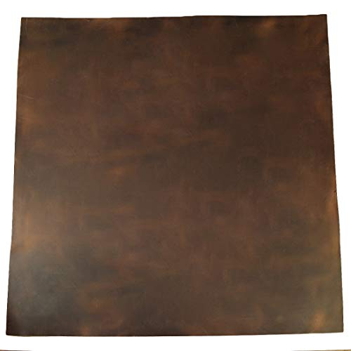 Hide & Drink, Leather Square (24 x 24 in.) for Crafts / Tooling / Hobby Workshop, Medium Weight (1.8mm) :: Bourbon Brown