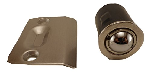 East West Consolidated 61960-4 Satin Nickel Ball Catch Drive In Adjustable Steel (Pack of 4) (Ball Nickel Satin)