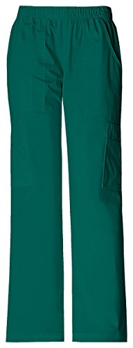 Cherokee Women's Mid Rise Pull-On Pant Cargo Pant_Hunter_Medium,4005 by Cherokee
