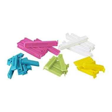 Ikea 700.832.52 Bevara Sealing clip, assorted colors, assorted sizes, 30-pack
