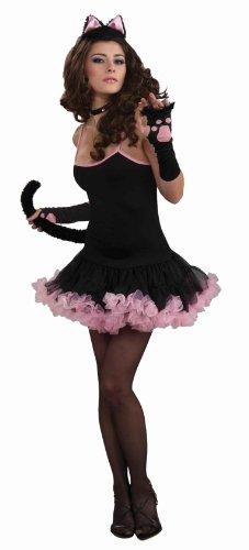 [Forum Novelties Sophisticat Petticoat Dress, Black, Standard Costume] (Sophisticat Costume)