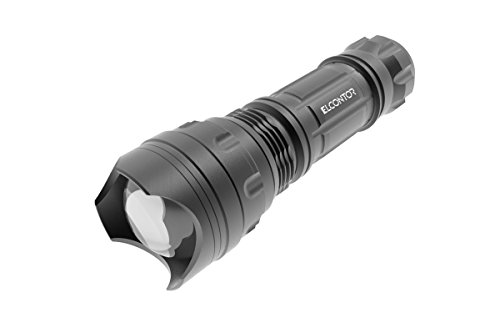 (ELCONTORTactical Self-defense Flashlight Zoomable 3AAA Batteries(Excluded) For Hiking Climbing Camping)
