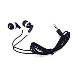 TFD Supplies Wholesale Bulk Earbuds Headphones 50 Pack For Iphone, Android, MP3 Player - Black