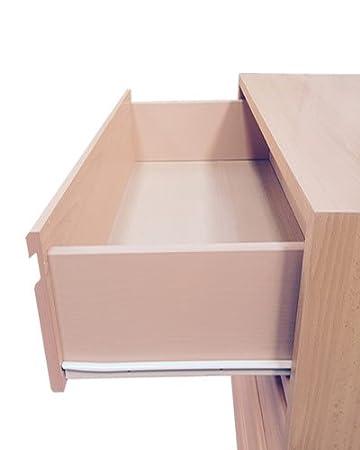 Cajonera para armario en 5 cajones Montada, dimensiones (60 ancho x 50 fondo x 90 de altura), color Haya C