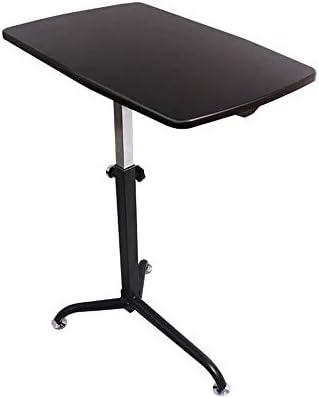 Xyanzi 折りたたみ式テーブル、調節可能なモバイルラップトップテーブルラップトップスタンド62×38cm、マルチカラーオプション (色 : ブラック)