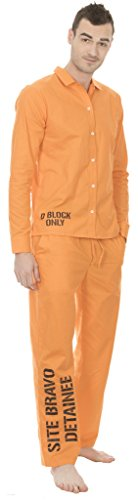 Suicide Squad Site Bravo Detainee 2 Piece Mens Costume Set (Large)]()