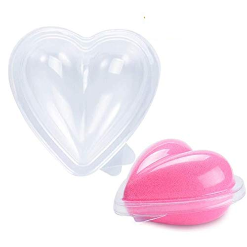 Heart Shape Bath Bomb Molds by Ian's Choice 16 Sets of Clear Heart Shaped Plastic Clam-Shell Bath Bomb Mold