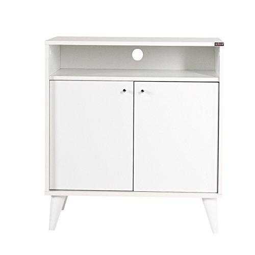 Contemporary London 2 Door Cabinet, Super Matte White (White Lacquer Buffet)
