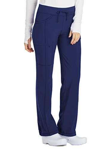 Cherokee Women's Size Infinty Low Rise Straight Leg Drawstring Scrub Pant, Navy, Large Tall ()