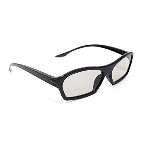 1 Pair of Black Adults Passive 3D Glasses in Easy 3D style for all Passive TVs Cinema and Projectors such as RealD Toshiba LG Panasonic and more