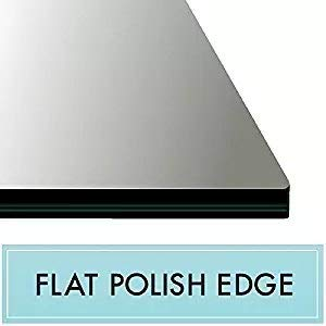 24'' x 52'' Rectangle Tempered Glass Table Top 3/8'' Thick Flat Polish Edge and Touch Corners