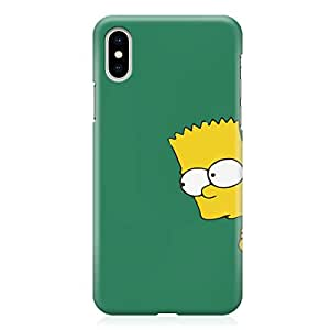 Loud Universe The simpsons iPhone XS Max Case Hiding Bart simpson iPhone XS Max Cover with 3d Wrap around Edges