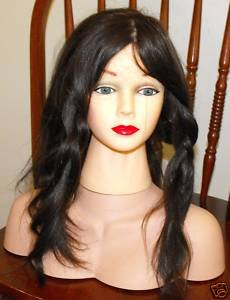 "Price comparison product image Beautiful Female Head Manikin with Real 10"" Long Human Hair+shoulder ""Shaina"" Mannequin Girl for Cosmetology"