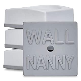 Wall Nanny Mini - Smallest Baby Gate Wall Protector (Made in USA) Protect Walls & Doorways from Pet & Dog Gates - for Child Pressure Mounted Stair Safety Gate - No Safety Hazard on Bottom Spindles