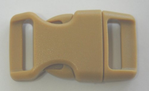 5-8-contoured-side-release-buckles-for-paracord-bracelets-multiple-size-and-quantity-tan-10-pack