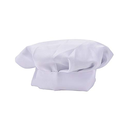 Cap Cap - 1pc Adult Elastic White Chef Hat Baker Cooking Costume Cap - White Gear Hats Captain Capping Capitan Roland Costume America Human Capers Nalgene Bottles -