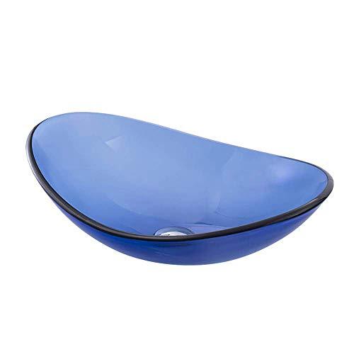 (LIBINA Wash Basin, Creative Simple Modern Round Blue Washbasin Bathroom Wash Basin,E)