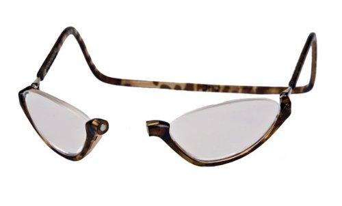 2013 Spring New Fashion (Clic Sonoma Single Vision Half Frame Designer Reading Glasses, Light Tortoise,)
