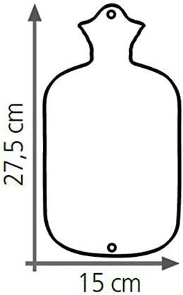 Sänger Wärmflasche 0,8 Liter Gummi, kuscheliger Velourbezug, Dumbo Elefant, Naturgummi, Premium Gummiwärmflasche, Wärmeflasche Kinder geeignet