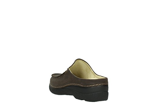 Wolky Roll Slippers 6250 Seamy Slide 11332 Mocca Nubuck kWbo63x