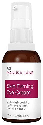 Natural Anti-Aging Eye Cream Moisturizer with Manuka Honey, Eyebright, Vitamin E, and Lanolin