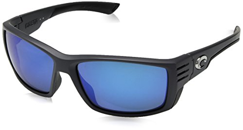 Costa Del Mar Cortez Sunglasses, Matte Gray, Blue Mirror 580 Glass Lens