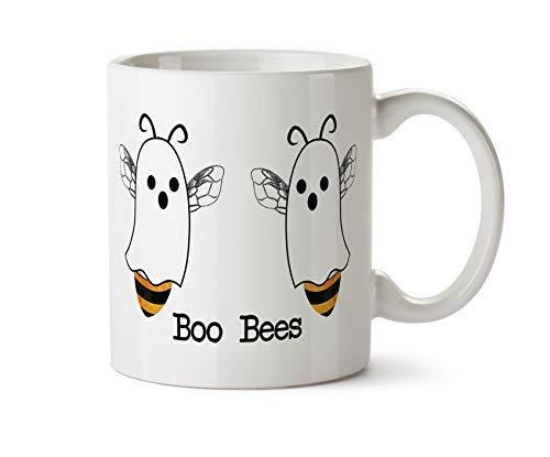 Halloween Coffee Puns (Boo Bees Halloween Funny Coffee Mug Boobies Pun Ghost Autumn Fall Gift for Him Halloween Gift Tea Save the Bees)
