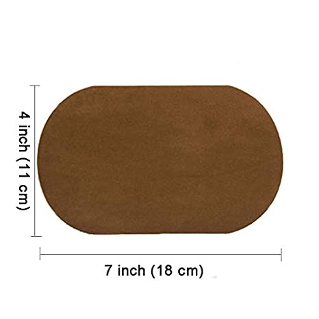 by Beaulegan Dark Coffee 4 PCS Elbow Knee Iron-on Velvet Patches Repair Patches