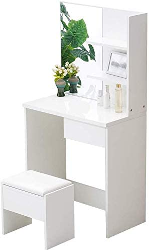 SPMDH Modern girl style bedroom dressing table with drawers and compartments dressing table,2 Drawers