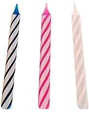Partygram - 10 Velas de Cumpleaños Mágicas, Rombos - Colores Surtidos