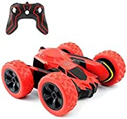 RC Cars Stunt Car Toy, Amicool 4WD 2.4Ghz Remote Control Car Double Sided Rotating Vehicles 360° Flips, Kids T