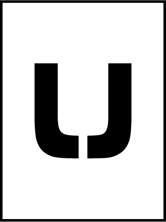 NMC PMC36-U 36''Stencil Letter ''U'', Pack of 5 pcs by National Marker