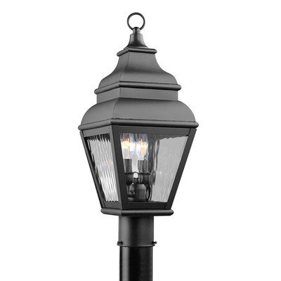 Exeter Outdoor Post Lantern in Black Size: 22