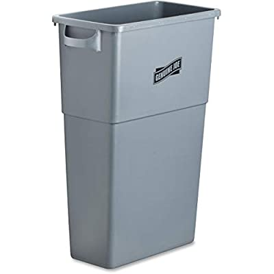 "Genuine Joe GJO60465 Plastic Space Saving Waste Container, 23 gallon Capacity, 23"" Width x 30"" Height x 11"" Depth, Gray - 4046274 , B001PMI25M , 454_B001PMI25M , 33.69 , Genuine-Joe-GJO60465-Plastic-Space-Saving-Waste-Container-23-gallon-Capacity-23-Width-x-30-Height-x-11-Depth-Gray-454_B001PMI25M , usexpress.vn , Genuine Joe GJO60465 Plastic Space Saving Waste Containe"