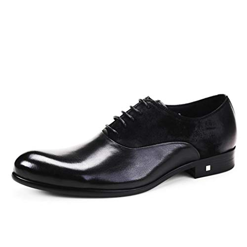 Botas Cuero De Los Casuales Hombres Negro Cordones Masculino Zapatos Británicos Flysxp Cabello Negocios Puntiagudo Estilista Bajos OSn1axwqB7