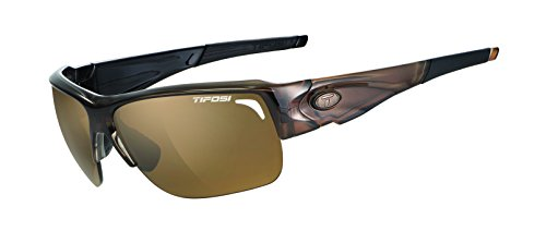 Tifosi Elder 1170504750 Polarized Wrap Sunglasses, Crystal Brown, 61 mm