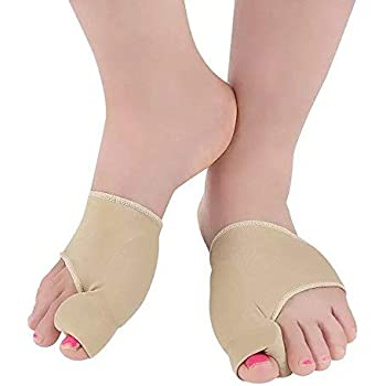Bunion Corrector and Bunion Relief Kit for Bunions, Hallux Valgus, Big Toe Joint with Protector Sleeve, Toe Separators, Straightener Splint and Foot Massage Ball by Yeaumi