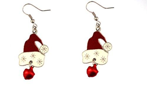 Santa Hat Dangle Earrings