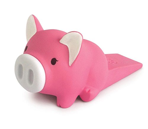 Cute Little Piggy Door Stopper Wedge Non-slip Non-scratching Baby Child Safety doorstop works on all floor surfaces (Plum Piggy) by Semikk (Image #4)