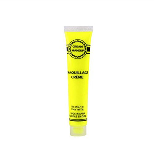 Brave669 Glow in The Dark Party Night Running Sport Halloween Makeup Face Body Paint B Yellow -