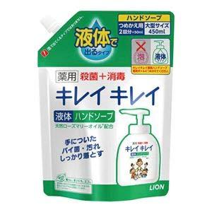 (まとめ) ライオン キレイキレイ液体ハンドソープ 詰替 16袋【×3セット】 B07RGB4B81