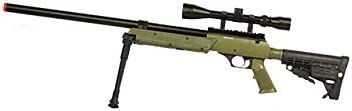 Well SPEC-OPS MB13A APS SR-2 Bolt Action Sniper Rifle Airsoft Gun OD Scope Bipod Package