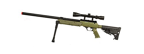 - Well SPEC-OPS MB13A APS SR-2 Bolt Action Sniper Rifle Airsoft Gun (OD/Scope & Bipod Package)