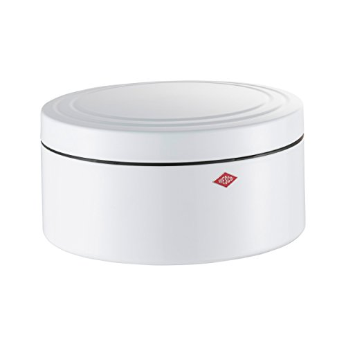 - Wesco Cookie Box Classic Line, Cookie Jar, Biscuit Tin, White, Steel Sheet, 324402-01