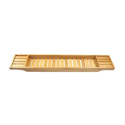 LNC Bamboo Bathtub Caddy,27.5-Inch,Fits Most Tubs