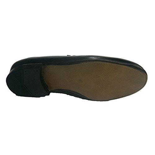 Scarpa classica con treccia e dettaglio lato 30´s nero